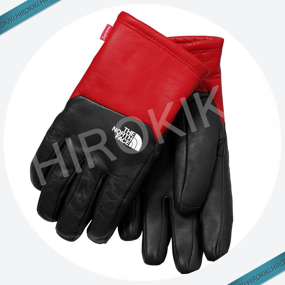 【17AW】Supreme The North Face Leather Gloves グローブ 手袋