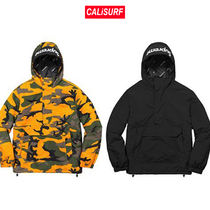 Supreme(シュプリーム)Hooded logo half zip/CAMOorBLK /M-XL