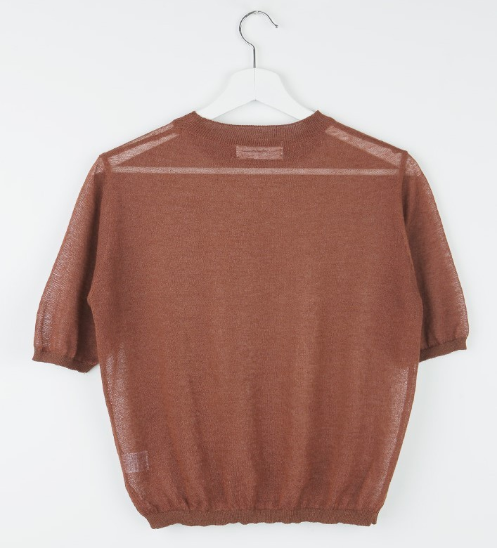 Round Neck Knit T-Shirt