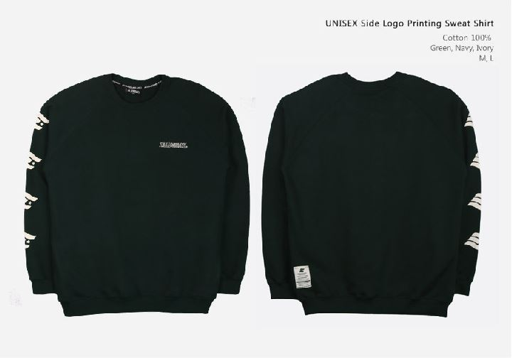 FILLUMINATEのUNISEX Side Logo Printing Sweat Shirt 全3色