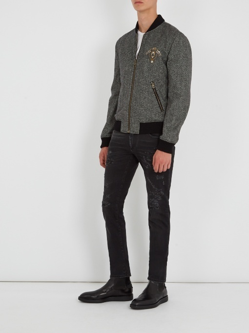 関税送料込 Dolce&Gabbana Crest applique jacket ブルゾン