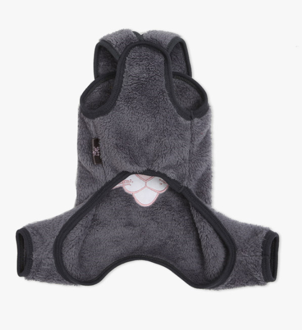 ★ ITS DOG ★PINKPANTHER VELBOA ALLINONE (gray)