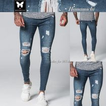 Good For Nothing*ダメージSPLATTER DESIGNスーパーSkinny Jeans