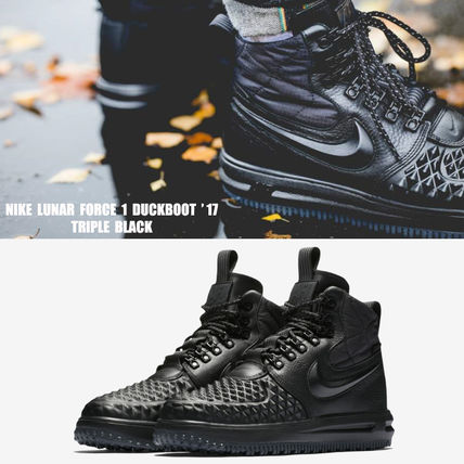 NIKE★LUNAR FORCE 1 DUCK BOOT '17★25~30cm★TRIPLE BLACK