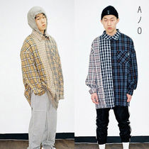 BTS着用ブランド ★AJO AJOBYAJO★  Over Check Mixed Shirt