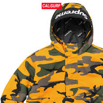 Supreme(シュプリーム)Hooded logo half zip/YELLOW CAMO /M-XL