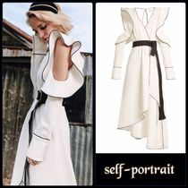 self-portrait★monochrome asymmetric wrap dress★関税込