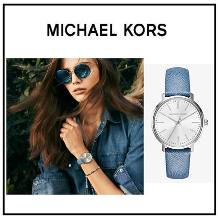 日本未入荷!! Michael Kors Jaryn Silver Leather デニムカラー