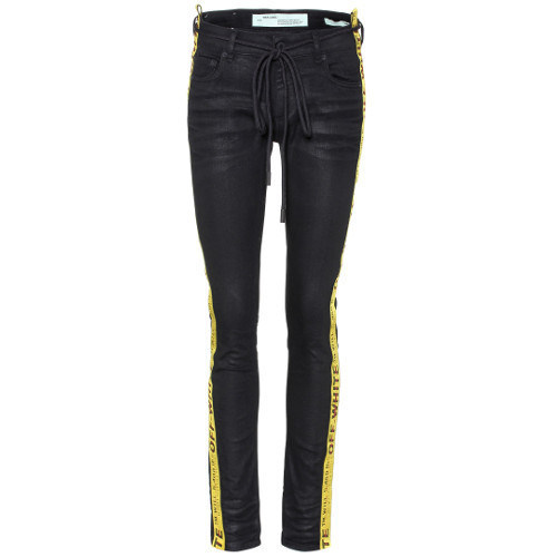 Off-White★17-18AW Strap Skinny 5 Jeans ブラックスキニー