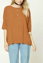 【即発セール】Forever21★Contemporary Ribbed Dolman Top