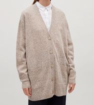 """COS""SPECKLED OVERSIZED WOOL CARDIGAN SAND"