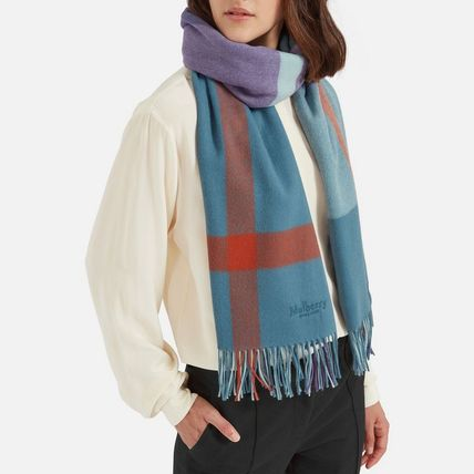 Mulberry スカーフ・ストール Mulberry Large Check Scarf(3)
