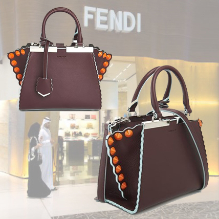 ◆◆VIPセール◆◆ FENDI   '3JOURS'  MINI LEATHER 2Way バッグ