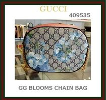 【GUCCI ☆BLOOMS GG SUPREME ミニ チェーンバッグ】409535