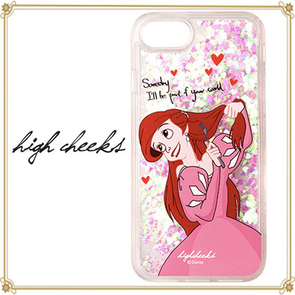 DISNEY+HIGH CHEEKS★キラキラ動くアリエルiphone 6/6s/7/7+case