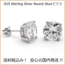 送料税込【King Ice】.925 Sterling Silver Round Stud ピアス