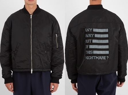 関税送料込 RAF SIMONS Any Way Out? print jacket ブルゾン
