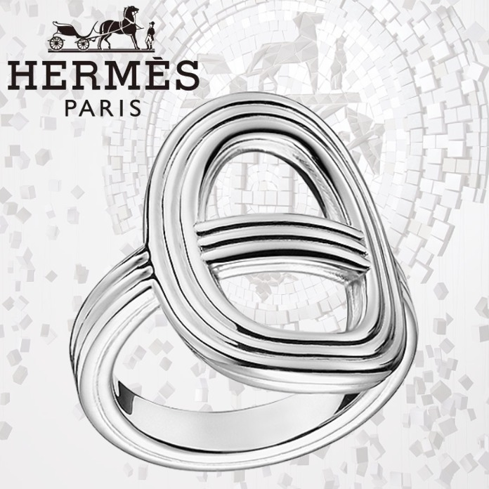 HERMES エルメス Chaine d'Ancre 24 リング シルバー