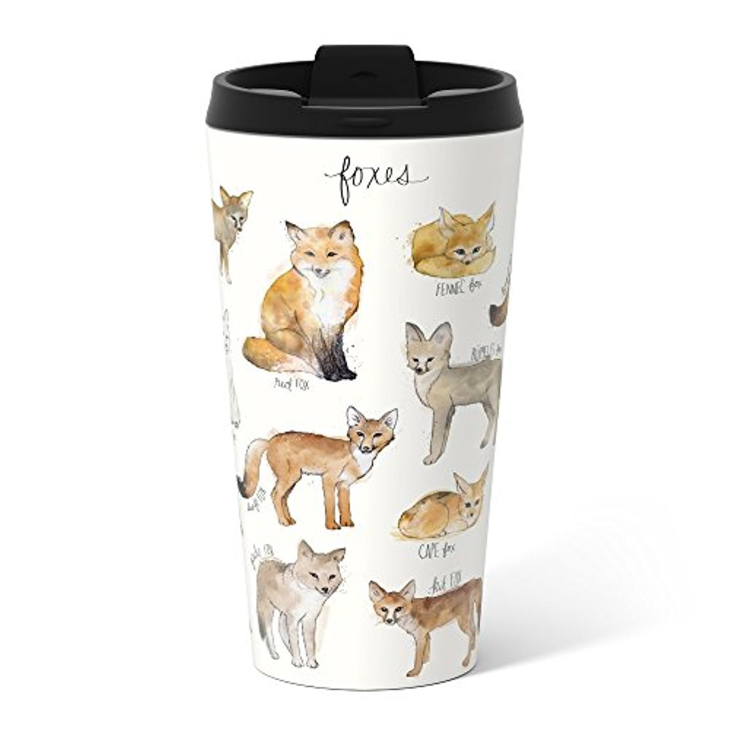 ◎送料込◎ Society6 Foxes Metal Travel Mug 15 oz