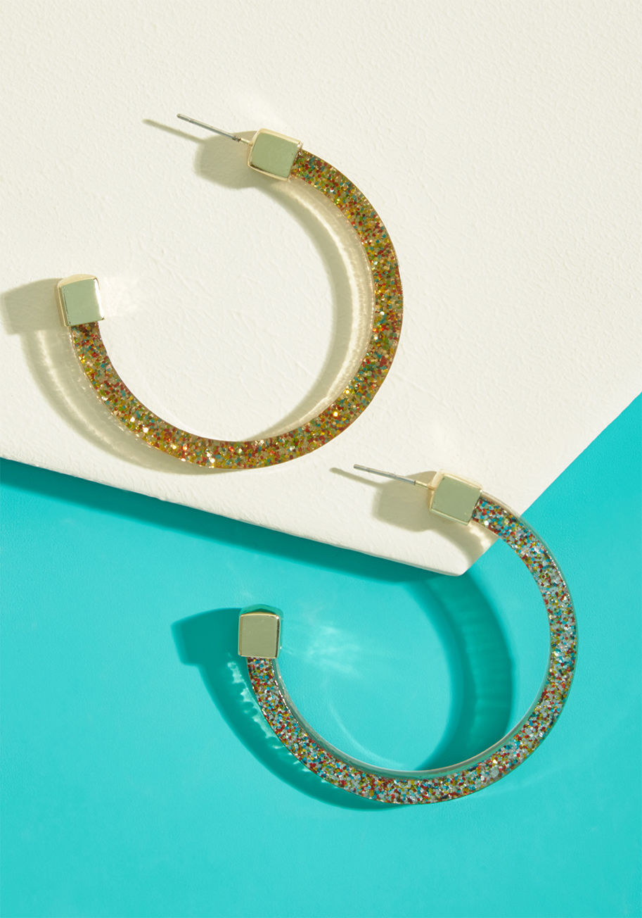 ◎送料込◎ real go-glitter hoop earrings