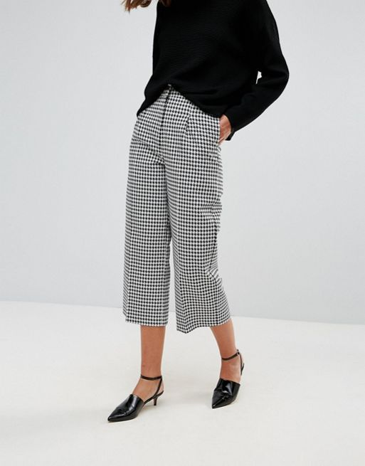 ワイド パンツ☆ASOS Tailored Dogtooth Longer Len(送料込み)