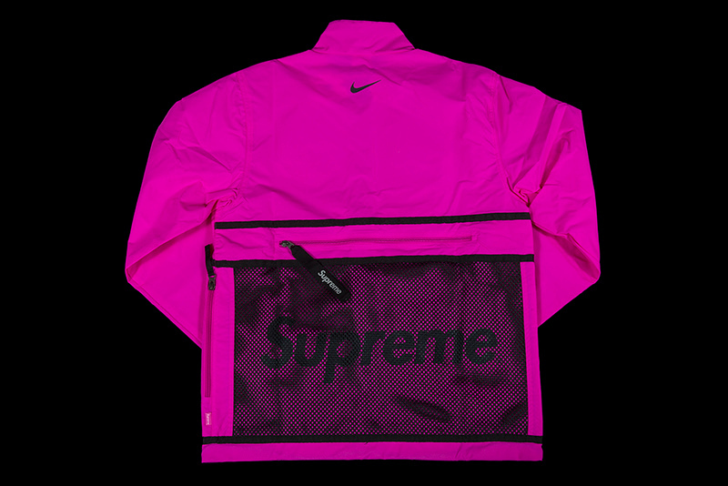 FW17 SUPREME NIKE TRAIL RUNNING JACKET PINK S-XL 送料無料
