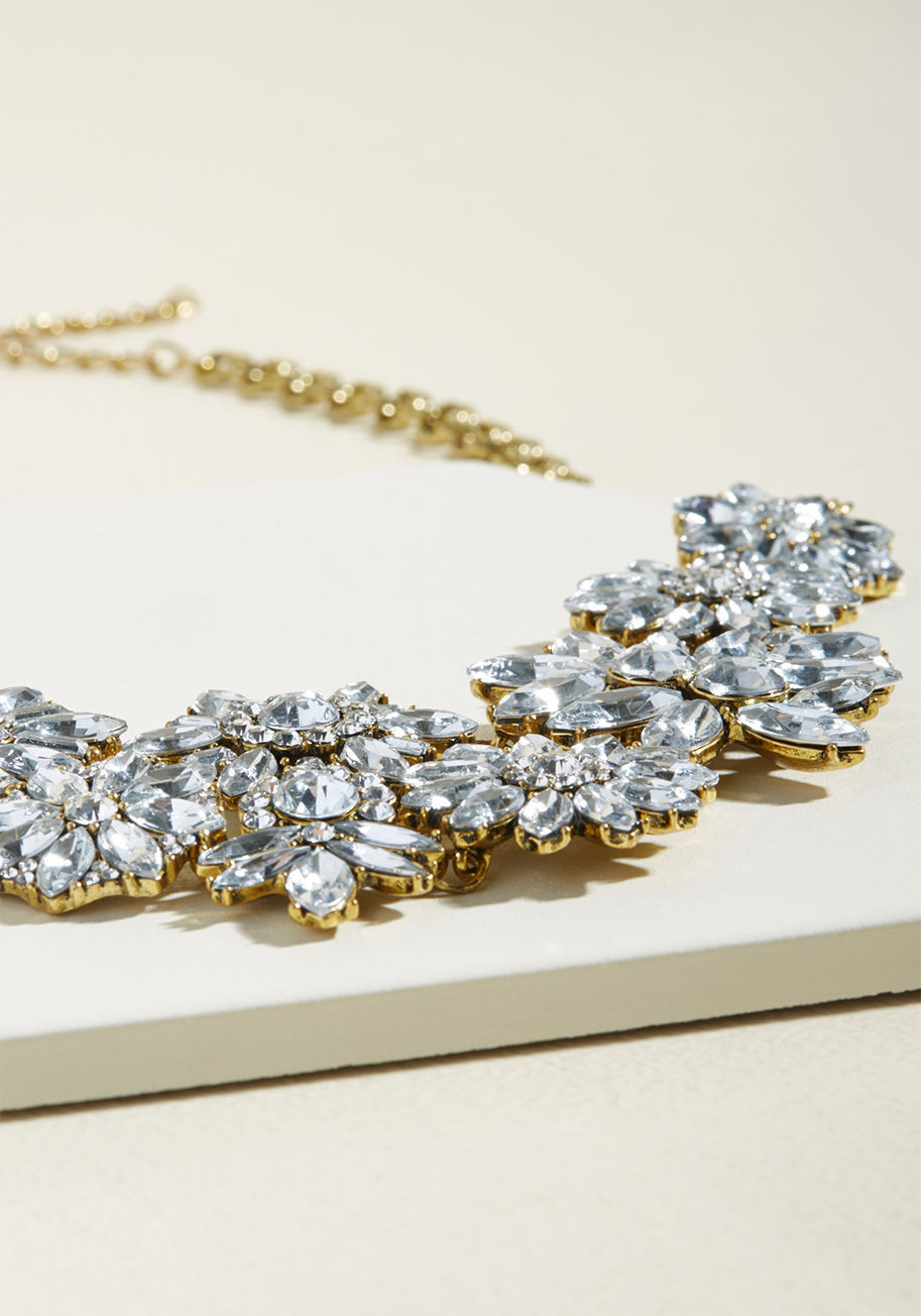 ◎送料込◎ artful sparkle statement necklace