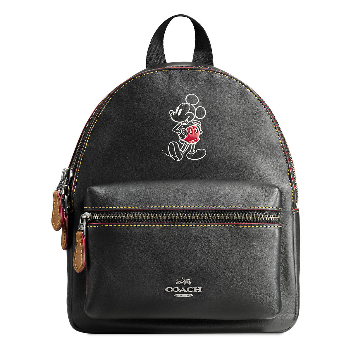 ◎送料込◎ Mickey Mouse Mini Charlie Leather Backpack by