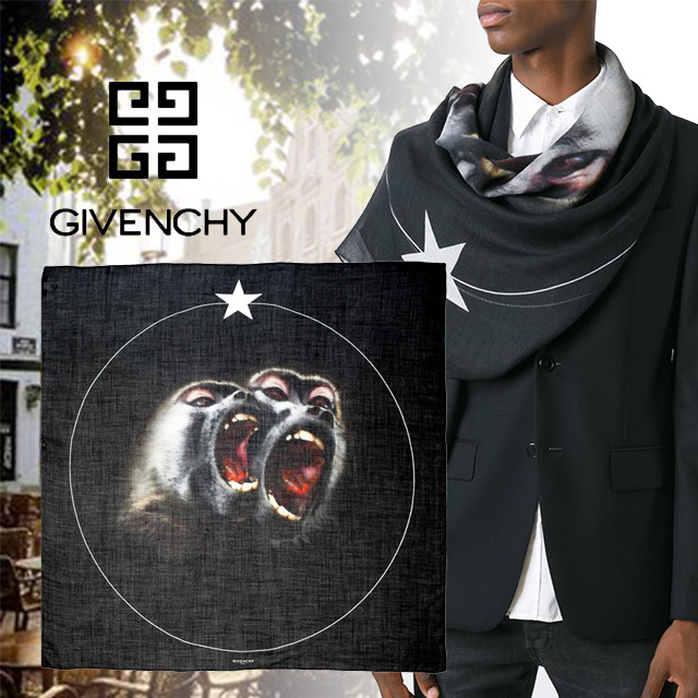 GIVENCHY(ジバンシィ)Monkey Brothers プリント スカーフ