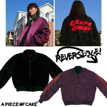 [A PIECE OF CAKE]★Grape Gummy Reversible MA-1 ver.2_Gr-Pu