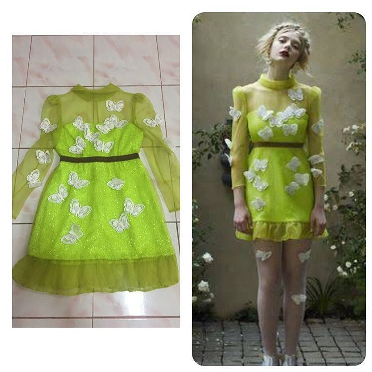 SRETSIS Butterfly Fiesta Dress (US2) 大きな割引!