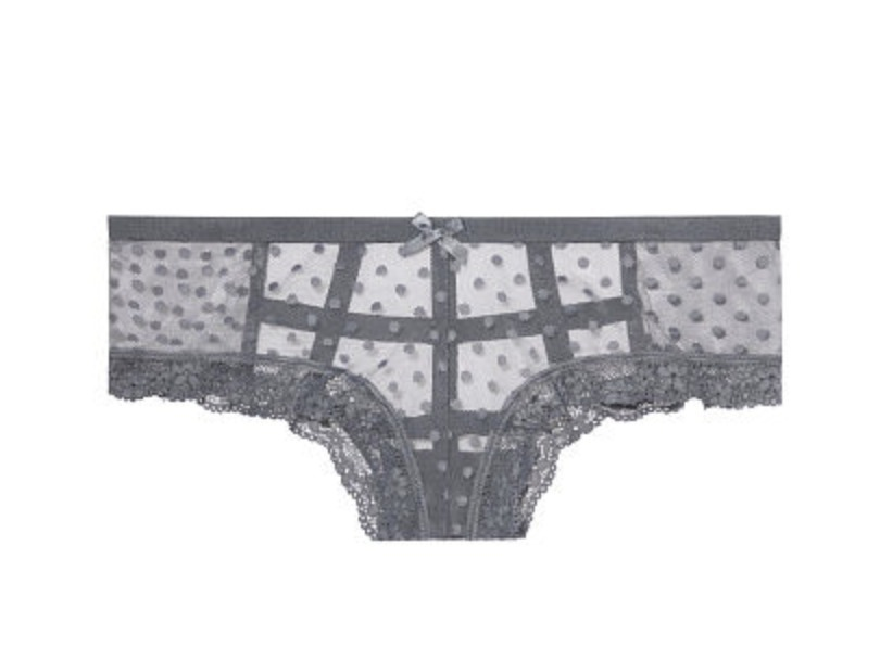 3点セット Dot Mesh Cutout Cheeky Panty