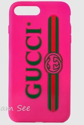 【GUCCI】GG  iPhone7 & iPhone 7plus ラバーケース ピンク