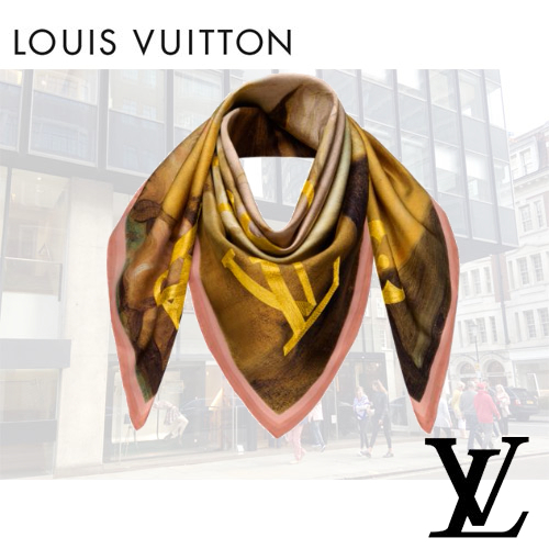 Louis Vuittonルイヴィトン MASTERSカレスカーフフラゴナール