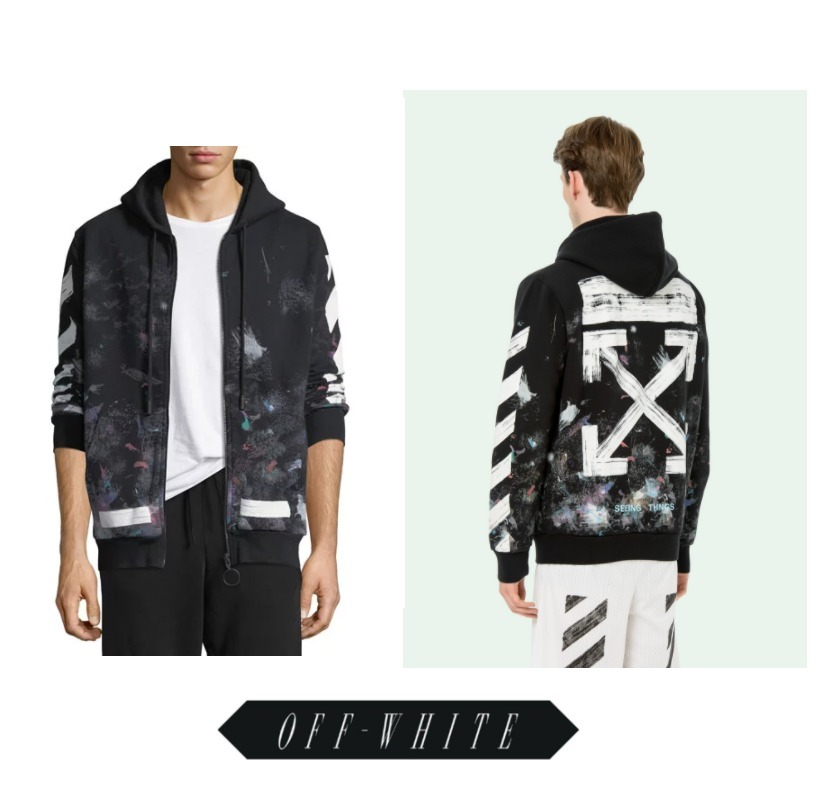関税負担//Off-White★17FW新作 GALAXY BRUSHED ZIPパーカー