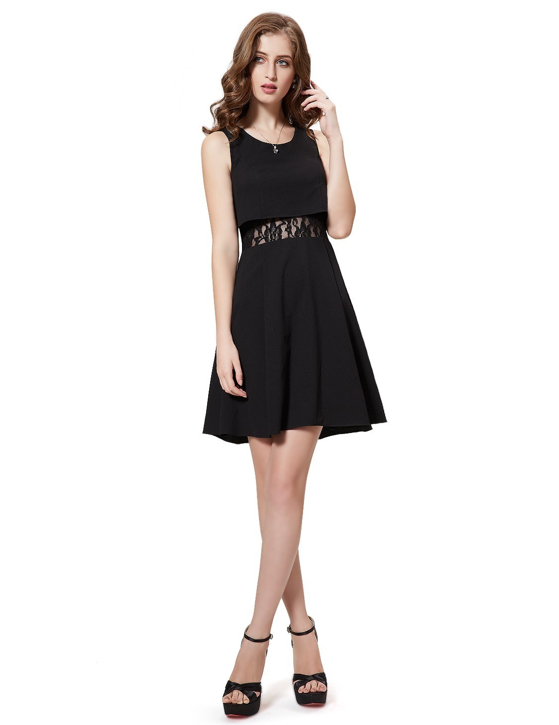 【日本未入荷】Two-Piece Black Cocktail Party dress_H-071