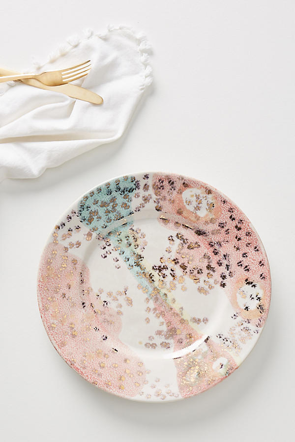 18SS☆最安値保証*関送料込【Anthro】Gold Accent Dinner Plate