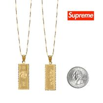 FW17 Supreme 100 Dollar Bill 14K Gold Pendant シュプリーム