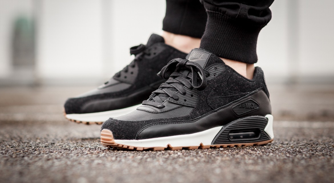 "[NIKE]AIR MAX 90 PREMIUM ""Black Wool"""