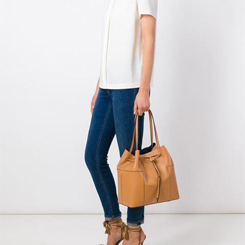 ★セールでお得★TORY BURCH BLOCK-T DRAWSTRING TOTE 11169642