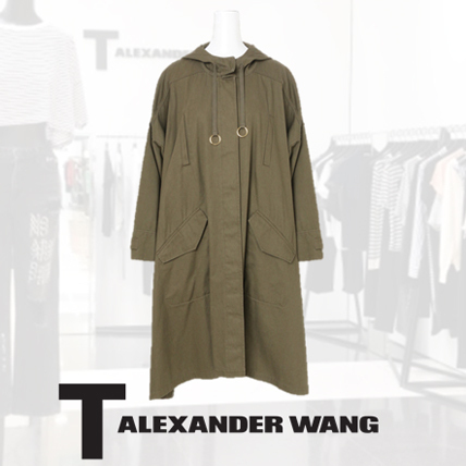 T by Alexander Wang Oversized Coat w/Hood 4W273001Q6-24 ◇