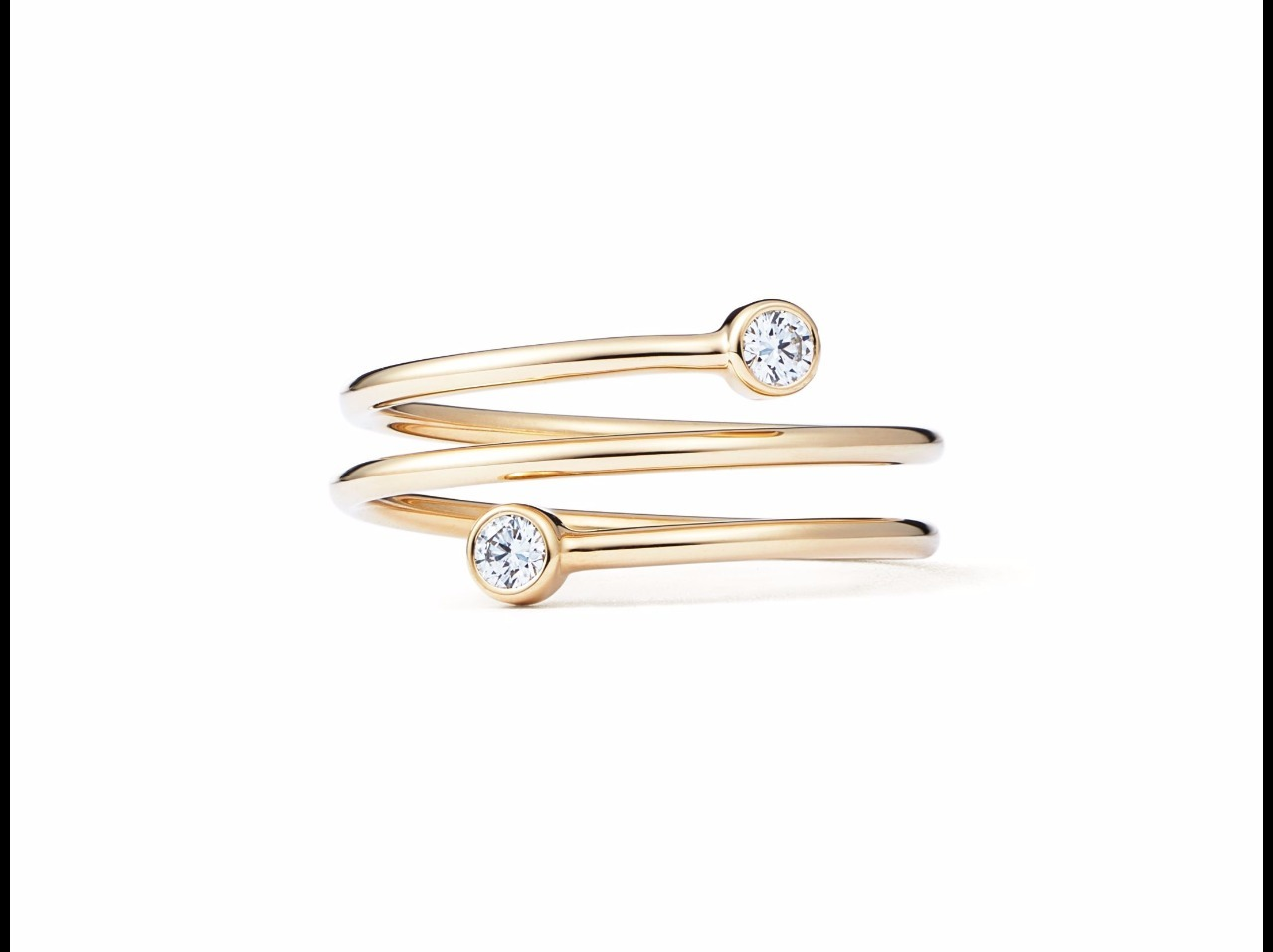 【Tiffany & Co】Elsa's Diamond Hoop three-row Ring 18k Gold