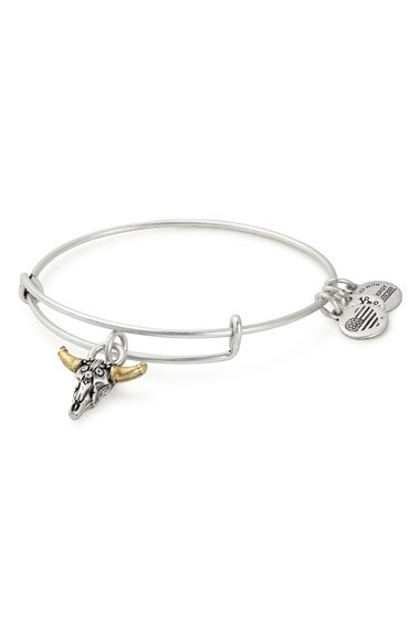 送料関税込★Alex and Ani Spirited Skull Adjusta ブレスレット