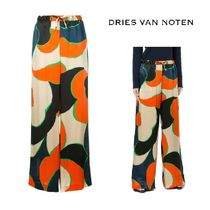 【17AW】大人気★Dries Van Noten★printed flared trousers