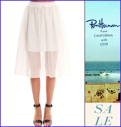 """ロンハーマン""Clover Canyon Square Mesh Skirt スカート White"