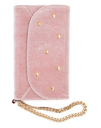 【関税・送料込み】Embellished Velvet iPhone X Wristlet
