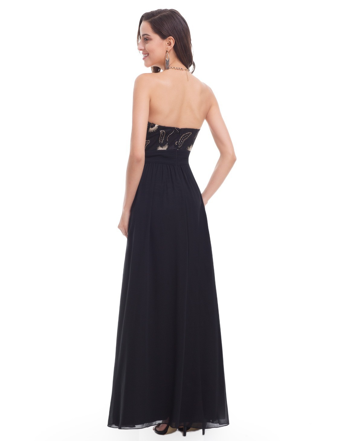 【日本未入荷】Strapless Empire Waist Evening Gown_H-102