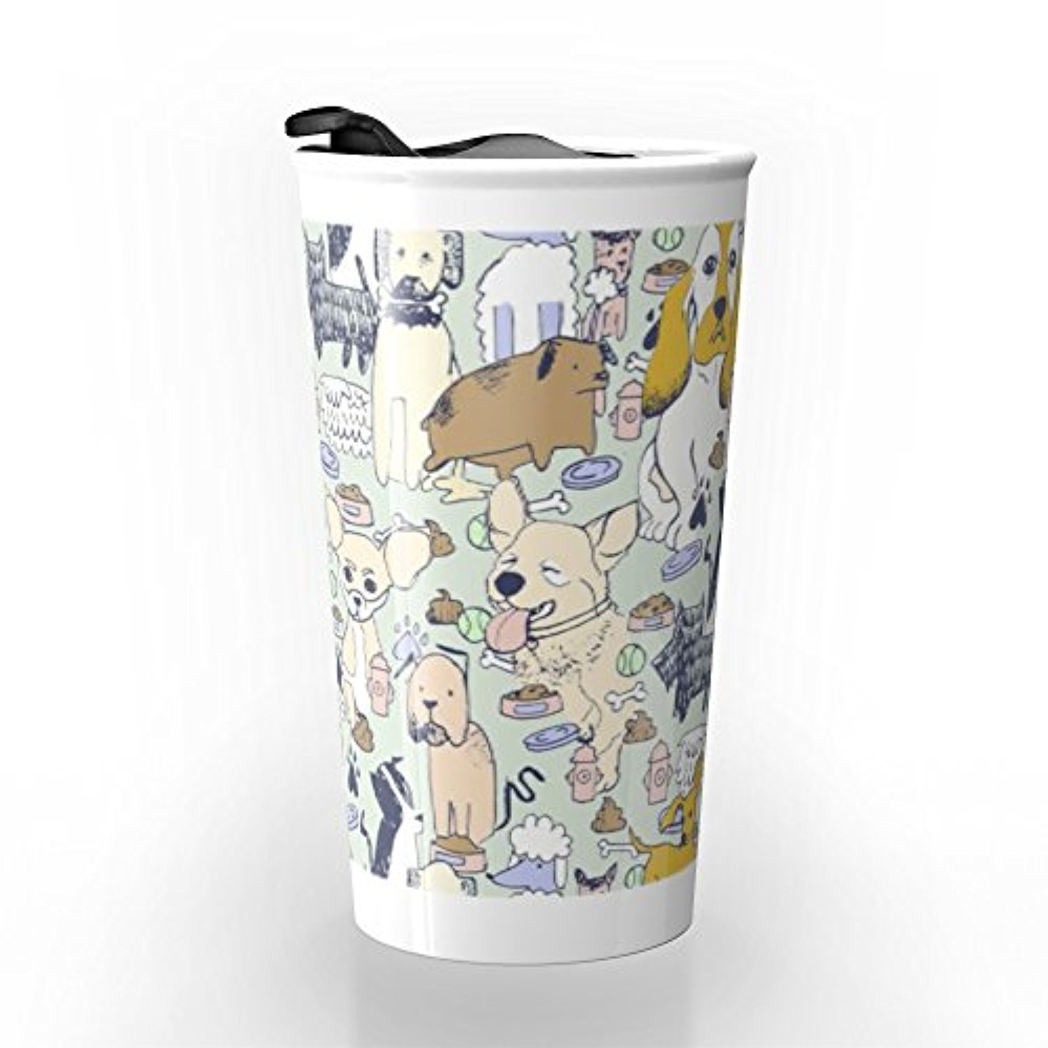 ◎送料込み◎ Society6 Who Let The Dogs Out? Travel Mug 12