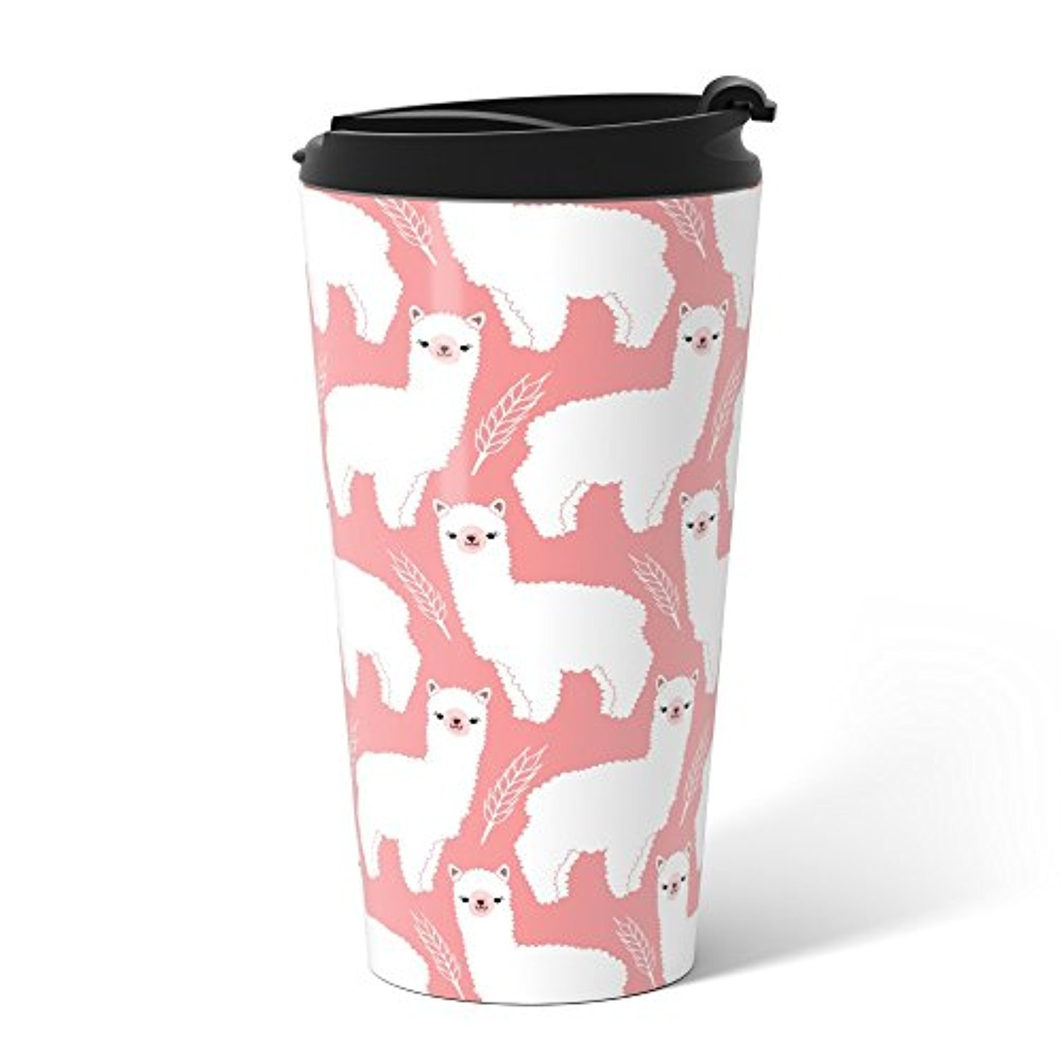 ◎送料込み◎ Society6 The Alpacas II Metal Travel Mug 15 oz