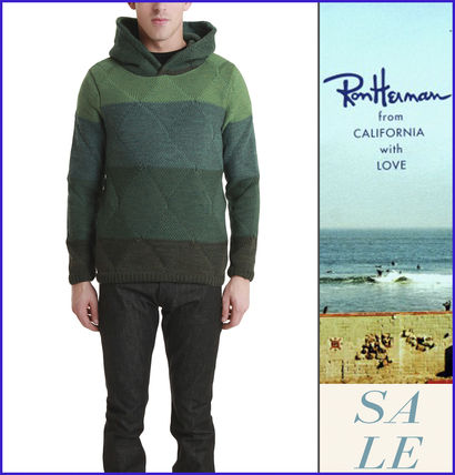"""ロンハーマン""Remi Relief Wool Boarder Layer パーカー Green"